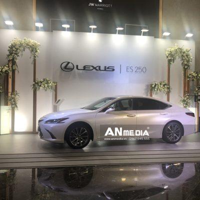 AN Media thi công Backdrop và đèn hắt trên backdrop Lexus - Triển lãm cưới Marriott